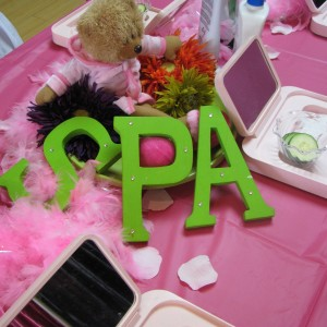 Spa Party Setting