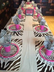Zebra Theme Table Settings