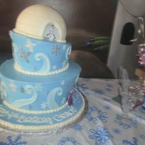 Frozen Winter Wonderland Cake