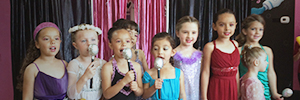 Diva Girls enjoying the stage Party Packages by Diva Girls & Adventure Boys