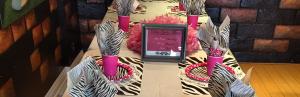 Zebra Theme Table  Setting
